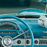 1960 Ford Thunderbird Dash Art Print