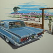 1960 Ford Thunderbird  Art Print