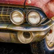 1961 Cadillac Headlight Art Print