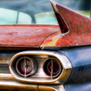 1961 Cadillac Tail Light And Fin Art Print