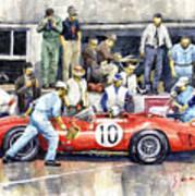 1961 Le Mans 1961 Ferrari 250 Tri Olivier Gendebien Phil Hill Winner  Art Print