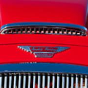 1962 Austin Healey 3000 Mk II Hood Emblem -0324c Art Print