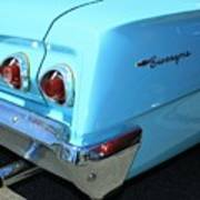 1962 Chevy - Chevrolet Biscayne Logos And Tail Lights Art Print