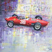 1962 Ricardo Rodriguez Ferrari 156 Art Print