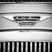 1963 Austin-healey 3000 Mk II Black And White Art Print