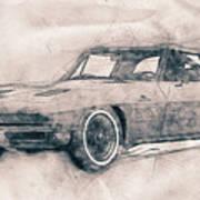 1963 Chevrolet Corvette Sting Ray - 1963 - Automotive Art - Car Posters Art Print