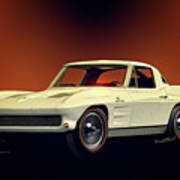 1963 Corvette 2nd Generation Art Print