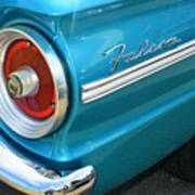 1963 Ford Falcon Tail Light And Logo Art Print
