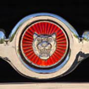 1963 Jaguar Xke Roadster Emblem Art Print
