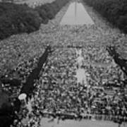 1963 March On Washington, At The Height Print by Everett