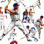 1963 Milwaukee Braves Yearbook Art Print