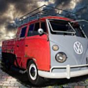 1963 Volkswagen Double Cab Truck Art Print