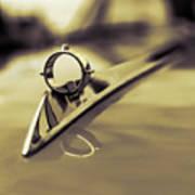 1964 Ford Galaxie 500 Xl Hood Ornament - Sepia Art Print