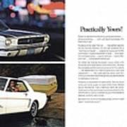 1964 Ford Mustang-10-11 Art Print
