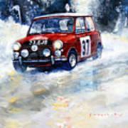 1964 Rallye Monte Carlo Mini Cooper S Hopkirk Liddon Winner Art Print