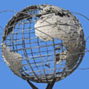 1964 World's Fair Unisphere Art Print