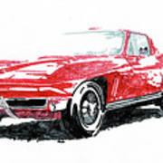 1965 Corvette Art Print