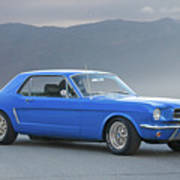 1965 Ford Mustang 'blue Coupe' I Art Print