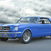 1965 Ford Mustang 'blue Coupe' IIa Art Print