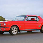 1965 Ford Mustang 'red Coupe' I Art Print