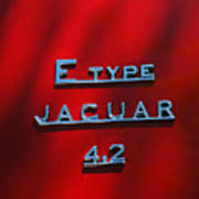 1965 Jaguar E Type Emblem Art Print