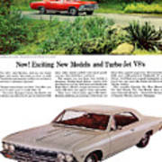 1966 Chevrolet Chevelle Turbo-jet V8's Art Print