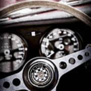 1966 Jaguar Xk-e Steering Wheel Emblem -2489ac Art Print