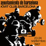 1967 Barcelona Kart Racing Poster Art Print