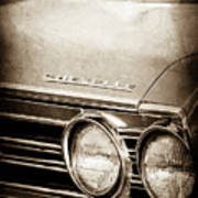 1967 Chevrolet Chevelle Ss Super Sport Emblem -0413s Art Print