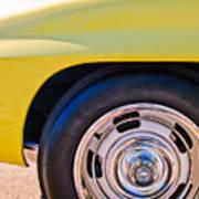 1967 Chevrolet Corvette Sport Coupe Rear Wheel Art Print