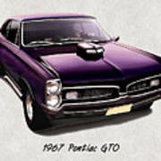1967 Purple Pontiac Gto Art Print
