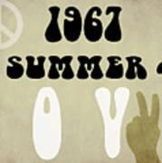 1967 Summer Of Love Newspaper Art Print