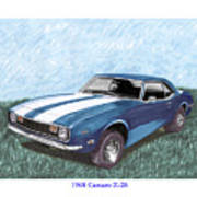 1968 Chevrolet Camaro Z 28 Art Print