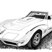 1968 Corvette Art Print