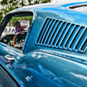 1968 Ford Mustang Fastback In Blue Art Print