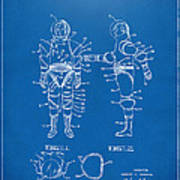 1968 Hard Space Suit Patent Artwork - Blueprint Print by Nikki Marie Smith