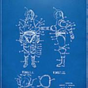 1968 Hard Space Suit Patent Artwork - Blueprint Art Print by Nikki Marie Smith