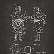 1968 Hard Space Suit Patent Artwork - Gray Art Print by Nikki Marie Smith
