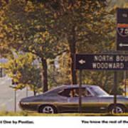 1968 Pontiac Gto - Woodward - The Great One By Pontiac Art Print