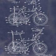 1968 Schwinn Stingray Patent In Blueprint Art Print