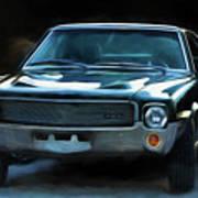 1969 Amx In Racing Green Art Print