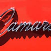 1969 Chevrolet Camaro Z-28 302 Emblem -0152c Art Print