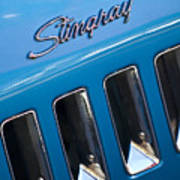 1969 Chevrolet Corvette Stingray Emblem Art Print