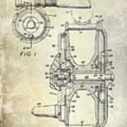1969 Fly Reel Patent Art Print