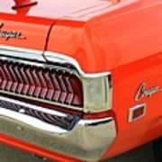1969 Mercury Cougar Tail Light With Logos Art Print