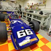 1969 Penske Indy Car In Garage Art Print