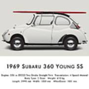 1969 Subaru 360 Young Ss - Creme Art Print