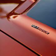 1970 Dodge Challenger Rt 383 Magnum Hood Art Print