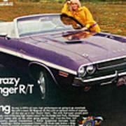1970 Dodge Challenger Rt Convertible Art Print