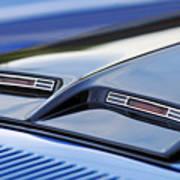 1970 Ford Mustang Gt Mach 1 Hood Art Print